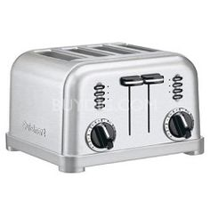 This, my friends, is how you make pizza or bruschetta or garlic bread or anything else with a topping...You turn your toaster on its side and now you have individual toaster-ovenlets with nothing to clean! Pretty neat, huh?! Well, welcome to Buydig! (toaster shown Cuisinart CPT-180 4-slice metal classic toaster)