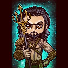 """""""Aquaman!!!  So stoked that @prideofgypsies is going to be at #heroesandvillainsfanfest in a few weeks!! I thought it would only be appropriate to…"""""""