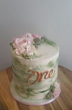 Sweet smash - Cake by Christine Princess Smash Cakes, Smash Cake Girl, Baby Girl Cakes, First Birthday Cakes, Birthday Cake Girls, Birthday Parties, Birthday Ideas, Pretty Cakes, Cute Cakes