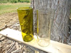 Tall Repurposed Tumblers made from Wine Bottles 21oz Set of 2
