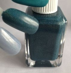 Name: Sample ETC #13 Description: Darkened Teal with multicolored shimmer and holographic pigment
