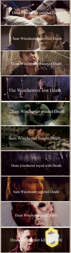 The Winchesters & Death Actually, I'm kinda mad he killed Death. He was cool. And I wonder how are people going to die now.