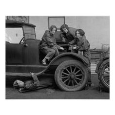 Young Lady Auto Mechanics, 1927 Posters