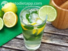Low-carb virgin Mojito (low-carb, paleo). A recipe from KetoDiet for the iPad, KetoDiet Basic for the iPhone and KetoDiet Kindle book.