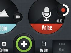 Dribbble - App UI - Nav Bar by Gert Tzafa