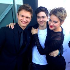 Ansel Elgort, Nat Wolff, and Shailene Woodley. Honestly this was the perfect cast.