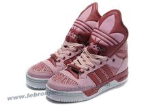 Girl Adidas X Jeremy Scott Big Tongue Shoes Pink For Sale
