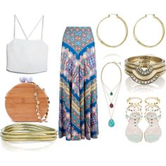 Summer Concert Style by crimsonpaisley on Polyvore featuring MANGO, Monsoon, Chloe + Isabel and jewelry