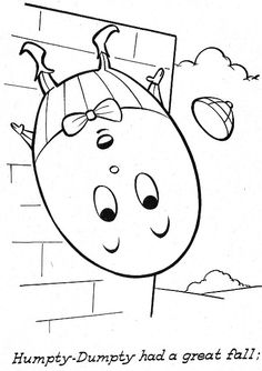 Awesome Coloring With Humpty Dumpty Coloring Page Beautiful Coloring Pictures For Rhymes