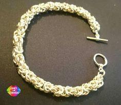 Chainmaille Bracelet, Byzantine, Uk Shop, Swag, Crafting, Jewellery, Bracelets, Silver, Handmade