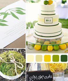 ideas for a lemon lime wedding theme