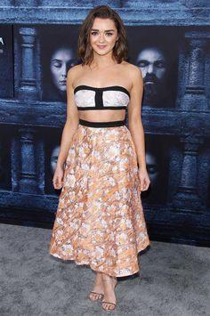Maisie Williams Game of Thrones premiere - Emilia Clarke, Maisie Williams and more stars attend 'Game of Thrones' season 6 premiere