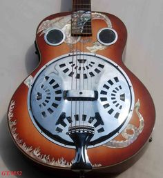 Image Detail for - Inlay Round Neck & Dobro Electric Guitar Resonator 9852 | Dobro Guitar