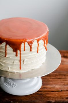 london fog cake with earl grey buttercream and salted caramel