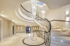 Bespoke Architecture & Interiors from Luxury Property Developers Octagon Mansion Global, Stone Mansion, Entryway Lighting, Luxury Homes Dream Houses, Pretty Bedroom, House Stairs, Property Development, Brick And Stone, New Homes For Sale