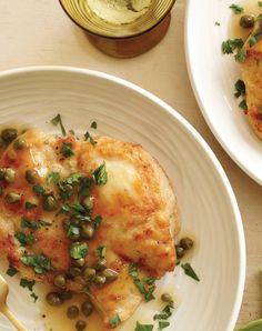 Chicken piccata. Get the recipe.
