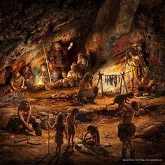 Torografic-Portfolio muestra general | torografic Prehistoric World, Prehistoric Creatures, Ancient Art, Ancient History, Era Paleolítica, Cro Magnon, Stone Age, Ancient Civilizations, Native American Art
