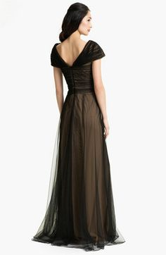 Womens Apparel Formalevening Sequined Mesh Soutache Gown