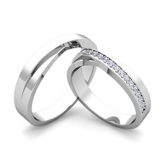 Matching Wedding Bands: Infinity Diamond Rings in Platinum