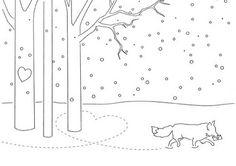 paw prints through the snow valentine card template