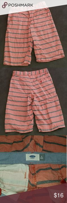 Old Navy Shorts | Excellent Cond | Boys Size 12 Old Navy Shorts Burnt Red in color with Gray Stripes  Excellent Condition Boys Size 12 Old Navy Bottoms Shorts