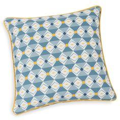 Housse de coussin en coton bleu 40 x 40 cm MOORGATE