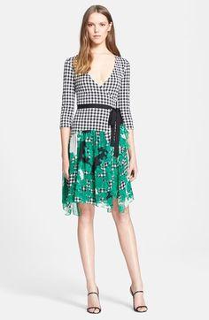 Diane von Furstenberg 'Riviera' Gingham Print Silk Wrap Dress available at #Nordstrom