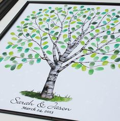 Personalized Wedding Gift Hand Drawn Wedding Birch by fancyprints, $45.00