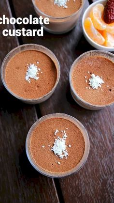 chocolate custard recipe, chocolate pudding custard recipe with step by step photo/video. classical creamy dessert recipe with cream, milk & custard. Chocolate Dishes, Chocolate Cookie Recipes, Dessert Chocolate, Chocolate Chocolate, Sweet Recipes, Cake Recipes, Snack Recipes, Savory Snacks, Smoothie Recipes