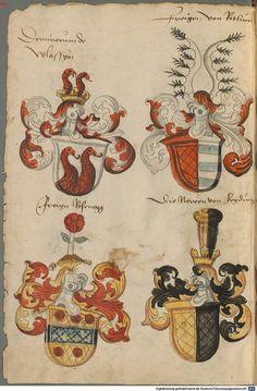 Wappen deutscher Geschlechter Augsburg ?, 4. Viertel 15. Jh. Cod.icon. 311  Folio 80v