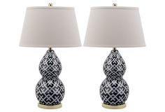 One Kings Lane - Style Your Bedroom - Caasi Table Lamp Set, Black