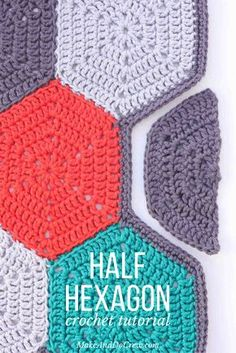 This tutorial will teach you how to crochet a half hexagon and customize the size. Helpful for hexagon afghan borders or for making modern geometric crochet projects. | MakeAndDoCrew.com