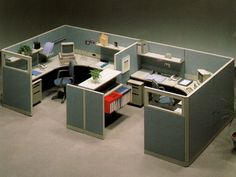 Semi-enclosed workstations (shared) 2 - N8 by OKAMURA Office Furniture