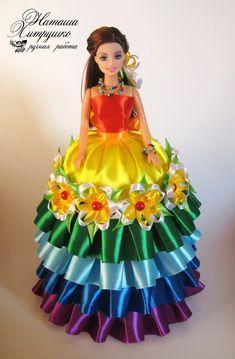 Кукла - шкатулка. Ручная работа. Высота 33 см. Внутренний диаметр шкатулки 10,5 см, глубина 10,5 см Barbie Dress, Barbie Clothes, Flower Crafts, Beautiful Dolls, Harajuku, Aurora Sleeping Beauty, Boho, Disney Princess, How To Wear
