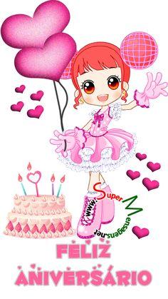 Recado Facebook Feliz aniversário! Happy Birthday Ballons, Happy Birthday Wishes Cake, Happy Birthday Pictures, Happy Birthday Quotes, Birthday Greetings, Cute Love Images, Smiley Emoji, Gift Envelope, Snoopy Love