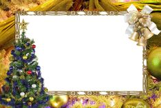 christmas transparent png borders and frames   Colorful_Christmas_Picture_Frame-with-Golden-Border