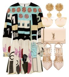 """""""Untitled #5063"""" by olivia-mr ❤ liked on Polyvore featuring Valentino, Yves Saint Laurent, Quay and Dolce&Gabbana"""