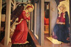Neri di Bicci - Annunciazione - 1455 - Basilica di Santa Maria Novella, Firenze