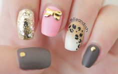 Fall / Autumn is here! No nail tools here, just use a toothpick and a sponge for this ombré gradient leopard nail art look!