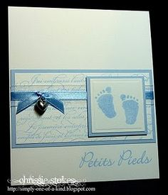 baby card - like the simple layout of this card. Easy to change for baby girl card.