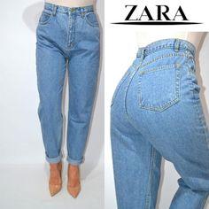 🌟джинсы мом высокая посадка винтаж момы  zara  . ZARA за 545 грн. Zara, Mom Jeans, Pants, Women, Fashion, Trouser Pants, Moda, Fashion Styles, Women's Pants