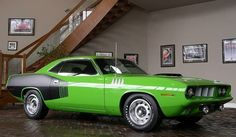1971 Plymouth Hemi Cuda    Considered by some to be the holy grail of the muscle cars, the 1971 Hemi Cuda' truly came to fame about 5 years ago when they were going for more than $1 million at auction. Thankfully though people came to their senses when they finally realized that these cars were made by Plymouth, and not Bugatti.