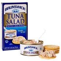 Bulk Brunswick Tuna Salad with Crackers Kits, 3.25-oz. at DollarTree.com  Chicken Salad and Potted Meat are great too...Quality food picks for homeless - food for homeless and children of homeless. Tuna Salad, Chicken Salad, Healthiest Foods, Backpacking Meals, Food Picks, Water Storage, Survival Food, Ben And Jerrys Ice Cream, Grocery Store