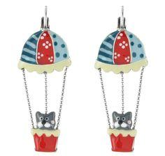 """Boucles d'oreilles Taratata """"Tarabéo"""" : des bijoux ludiques et colorés.  http://www.bijouterie-influences.com/Boucles-doreilles-fantaisie/14182-Boucles-doreilles-TARATATA-Tarabeo-.html"""