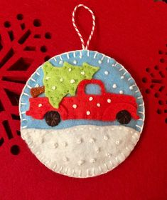 Felt Christmas ornament | Wool Appliqué | Pinterest | Felt ...