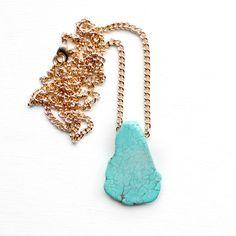 Turquoise Magnesite Stone Necklace
