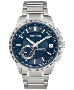 24136dcdf79b Citizen Men s Eco-Drive Satellite Wave World Time GPS Stainless Steel  Bracelet Watch 44mm CC3000-89L   Reviews - Watches - Jewelry   Watches -  Macy s