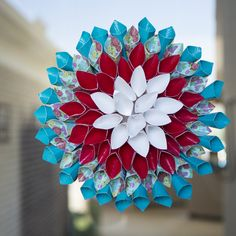 Decorate your home with this fun duct tape flower wreath. Learn how to make this advanced craft to make the perfect decoration for any space. http://duckbrand.com/craft-decor/activities/flower-wreath?utm_campaign=dt-crafts&utm_medium=social&utm_source=pinterest.com&utm_content=duct-tape-crafts-flowers