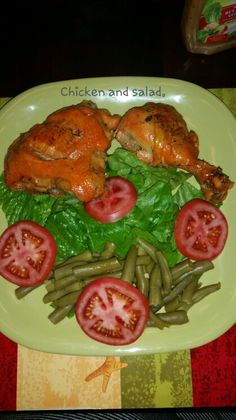 Chicken with salad. :)