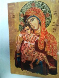 The Virgin and The Child (acrylic and tempera on wood)